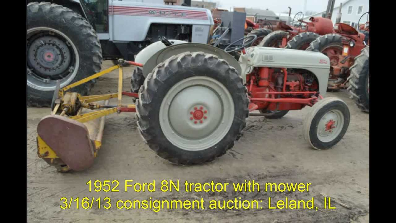 1952 ford 8n tractor sold on illinois auction 3 16 13