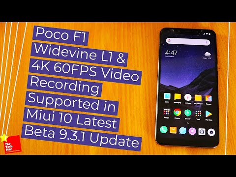 Poco F1 Widevine L1 and 4K 60FPS Video Supported in Latest