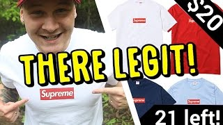 INSTAGRAM AD SOLD ME REAL SUPREME BOX LOGO TEES!!! (NOT CLICKBAIT!)