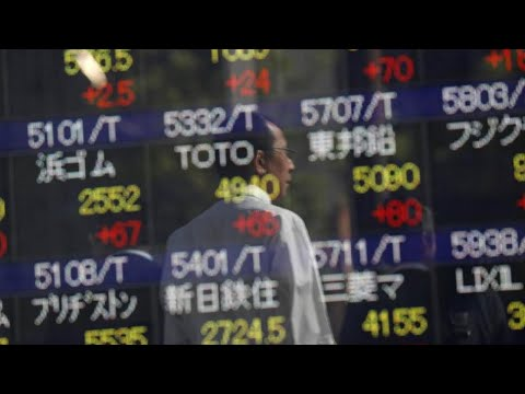 Asian shares off 10-year peak, China hits three-month low