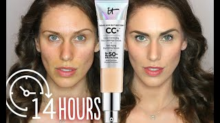 14H TEST: IT Cosmetics Your Skin But Better CC+ Cream Bye Bye Under Eye & Bye Bye Pores Loose Powder