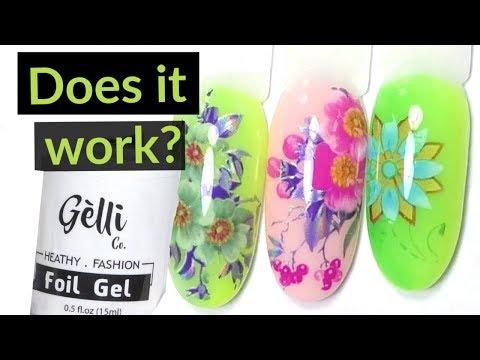 Foil Gel Nail Designs - Tutorial thumbnail