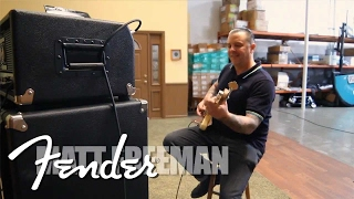 Rancid's Matt Freeman demonstrates the NEW Fender Bassman Pro Serie...