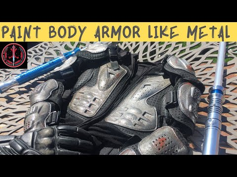 How to paint plastic armor to look like metal for Light Saber Dueling DIY