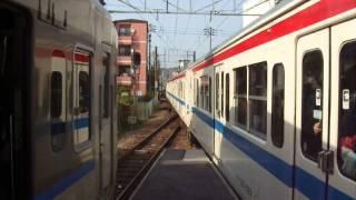 可部線 下祇園駅での列車交換