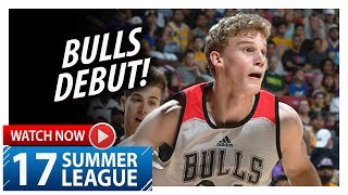 Lauri Markkanen Full Bulls Debut Highlights vs Mavericks (2017.07.08) Summer League - 14 Pts, 8 Reb