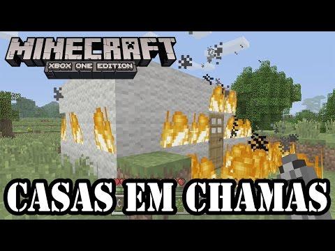 MINECRAFT XBOXONE - CASAS EM CHAMAS