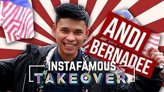 Instafamous Takeover x Andi Bernadee | Andi Buat Awek China Cair Dengan Lagu Shape Of You?!