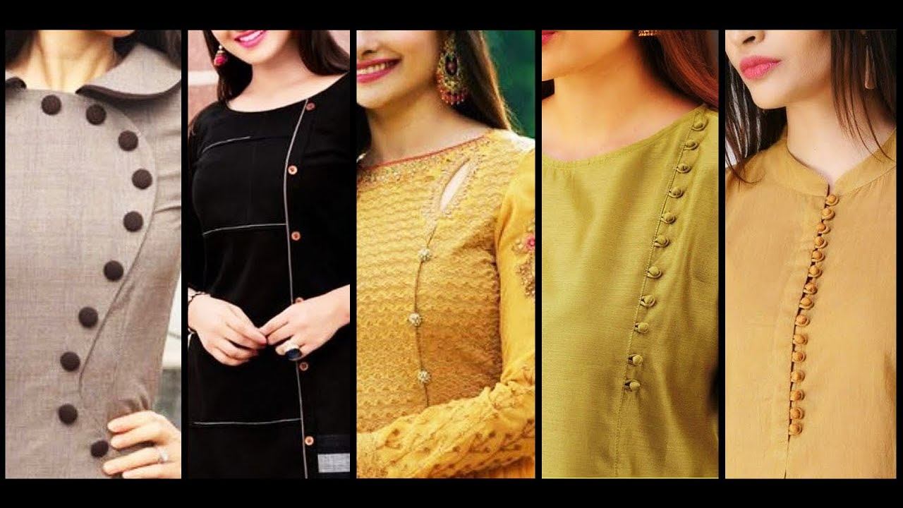 New Latest And Stylish Front Collar Neck Designs For Churidar Kurti Dress And Boat Neck Blouse Youtube