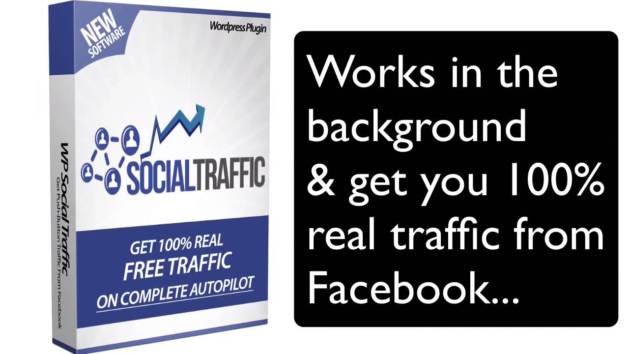 WP SOCIAL TRAFFIC ONLY $9.99