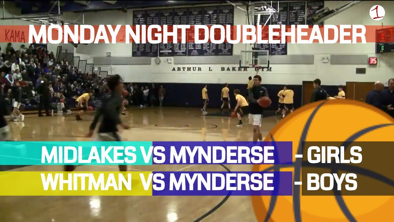 Midlakes vs. Mynderse (girls) & Marcus Whitman vs. Mynderse (boys) .::. FL1 Sports Monday Night Doubleheader 2/4/19