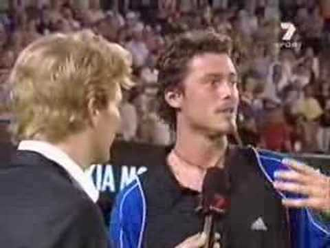 Safin on- court interview AO SF'05