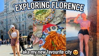 TRAVELLING TO FLORENCE || City Tour, LOTS of food & Visiting PISA!
