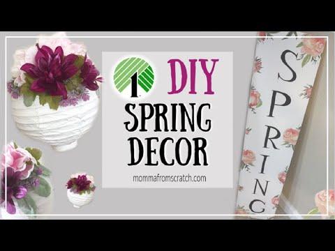 Dollar Tree DIY Farmhouse Spring Decor   Spring DIY Sign   Momma From Scratch