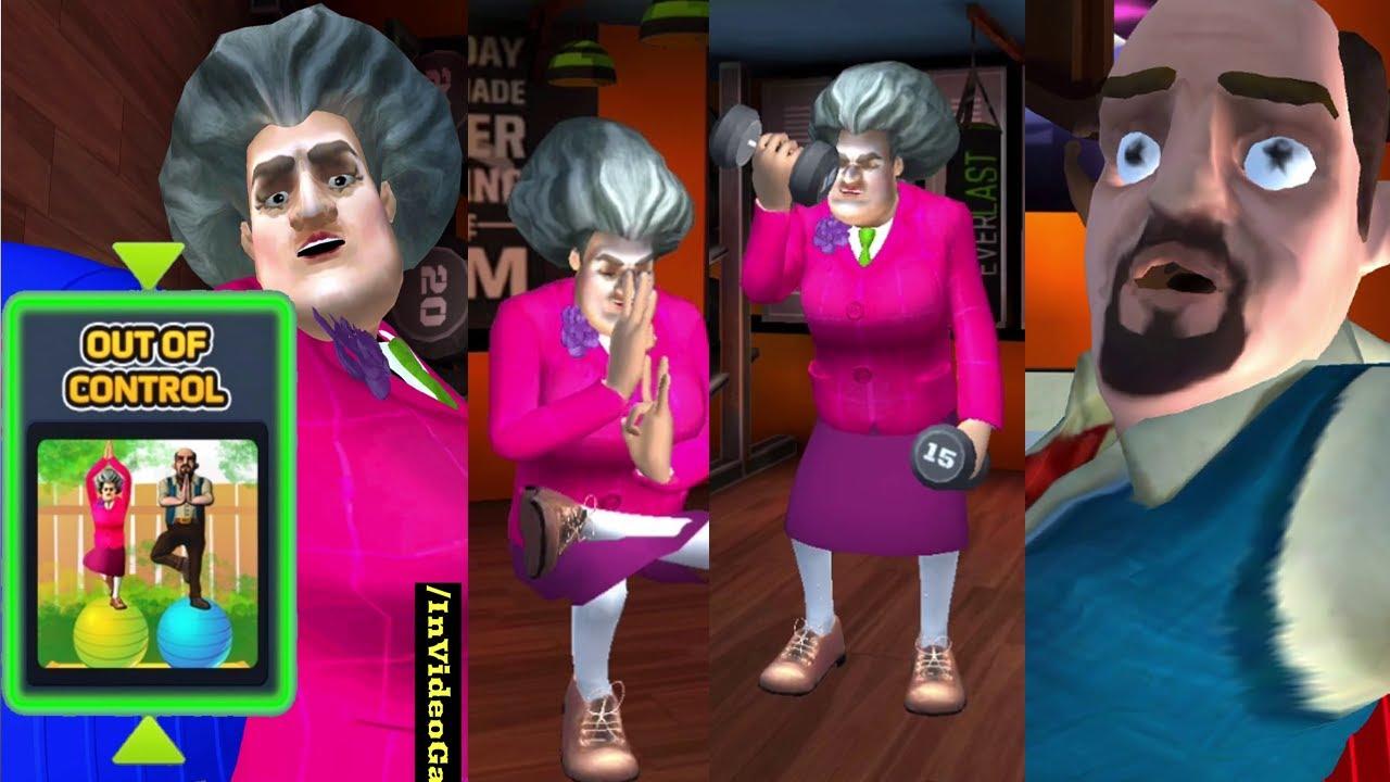 Out of control - टीचर का योगा Scary Teacher 3d खौफनाक शिक्षिका New update funny 2020 game
