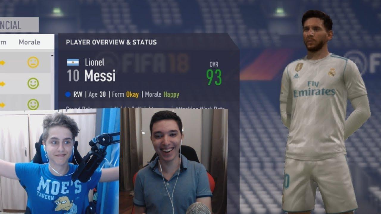 LIONEL MESSI TRANSFER LA REAL MADRID !!! / BATALIA CARIERELOR CU SINNER - FIFA 18 în ROMÂNĂ