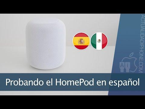 Probando el HomePod en español