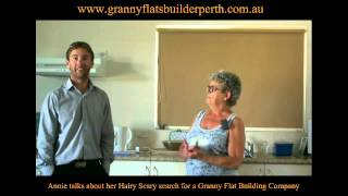 Annie talks about her Hairy Scary search for a Granny Flat Building Company