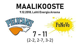 Pelicans SB - PoNoVo / maalikooste, 2. div.