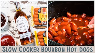 Slow Cooker Bourbon Hot Dogs {…