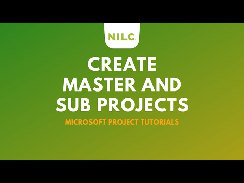 How To Create Master and Sub Projects in Microsoft Project