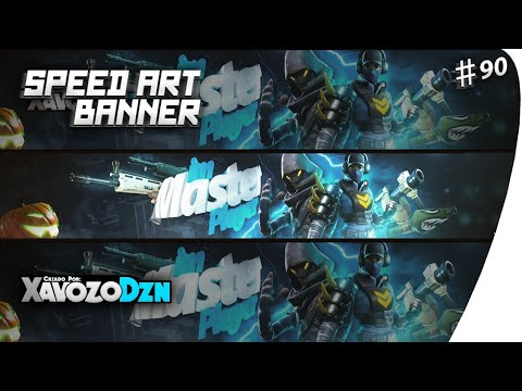 •Speed Art Banner FORTNITE Para / imMasterPlayer /by:eu(XavozoDzn)[C4D/Ps Touch/Android]|#90|