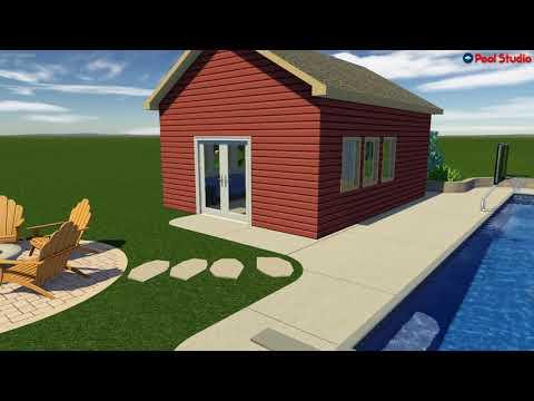 Belgium, WI -Inground Pool & Pool House Design Concept