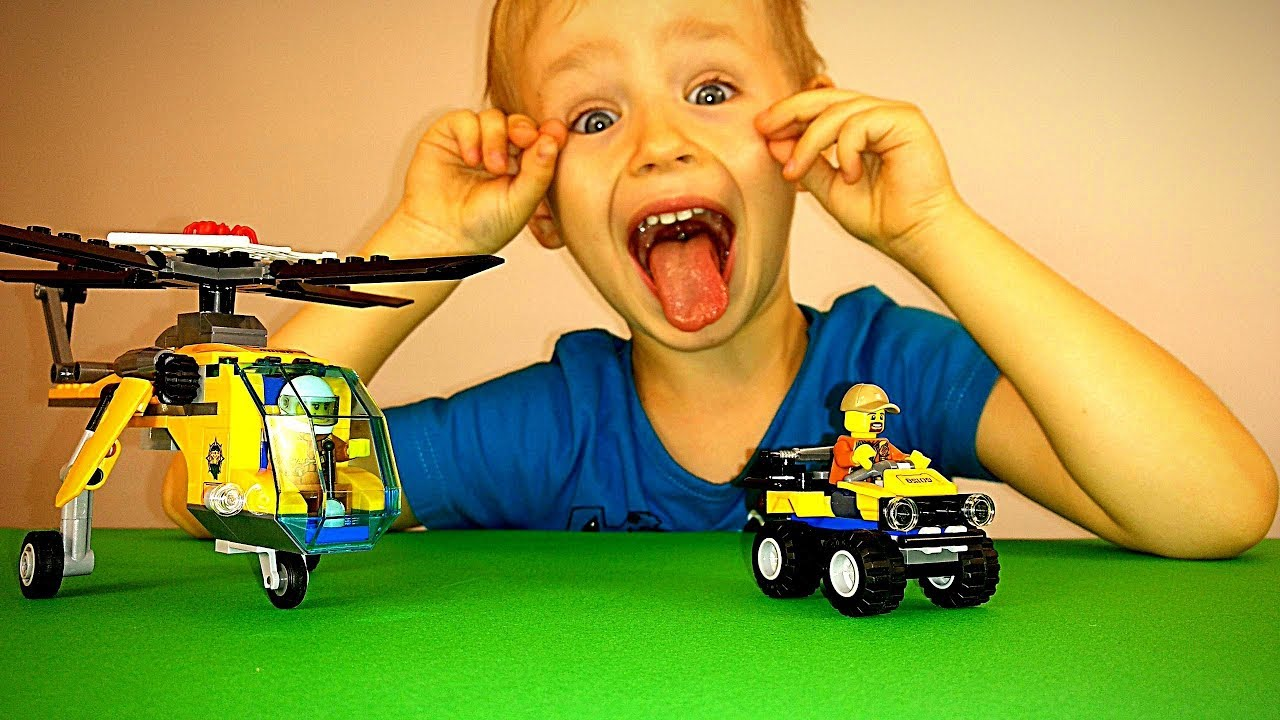 Мультики про Лего машинки Секретная операция Золотая Чаша Видео для детей про игрушки Lego вертолет