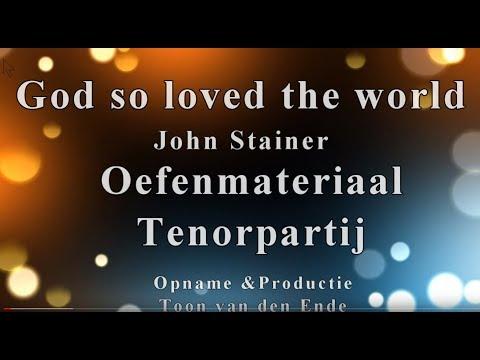 God So Loved The World Tenor