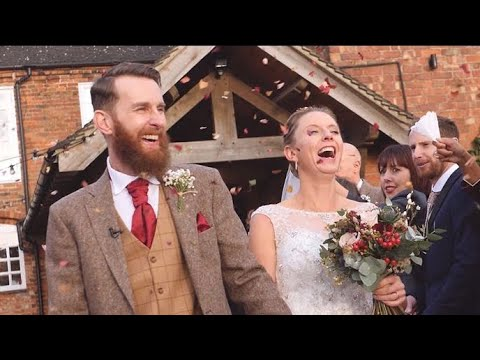 Louise and Jonathan: Wedding Film at Donington Park Farmhouse, Castle Donington