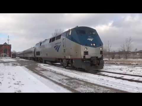 Amtrak Crossing The Border Canada-USA @ Niagara Falls!!