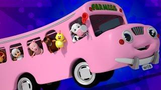 Колеса на автобусе | Детского стишка для детей | 3D Kids Songs Collection | Wheels On The Bus