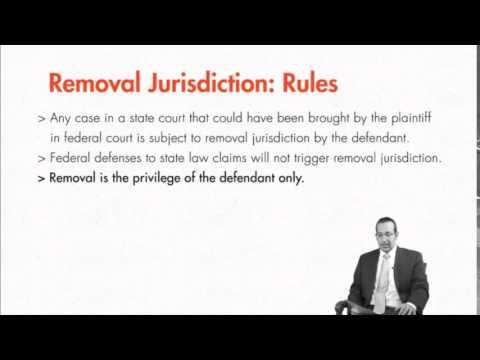Module 3.5: Removal Jurisdiction
