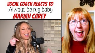 Vocal Coach Reacts to Mariah Carey 'Always be my baby' Live iHeart Radio Living Room Concert