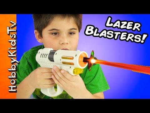 Lazer Blaster Toys! 2-Player Lazor Tag Remote Control Fun Kids Review HobbyKidsTV