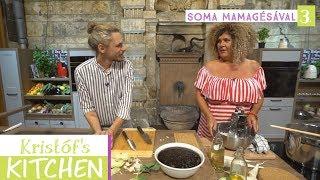 Gambar cover Kristóf's Kitchen in The Studios - vegán főzős talkshow - 3. rész - Spitzer Gyöngyi Soma Mamagésával