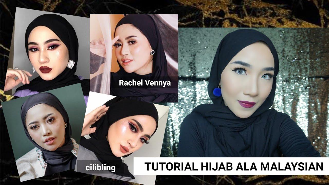 Tutorial Hijab A La Malaysian Rachelvennya Youtube