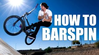How to barspin on BMX, MTB (Как сделать Barspin на BMX, MTB) | Школа BMX Online #20