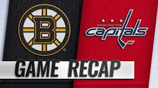 Senyshyn scores twice to help Bruins defeat Capitals