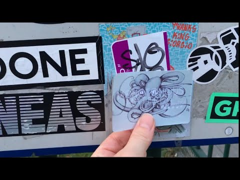 street art of the day sticker tagging debut youtube
