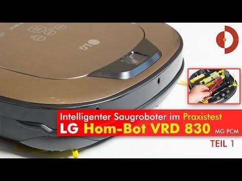 Hom-Bot VRD 830 MGPCM Test Teil 1 - Praxistest im Wohnraum