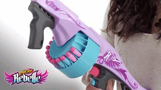 NERF Rebelle Secrets & Spies Fearless Fire Blaster | Product Demo