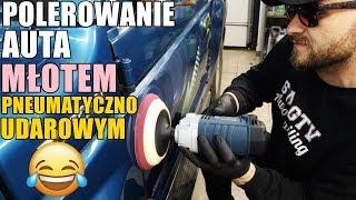 POLERUJE AUTO MŁOTEM PNEUMATYCZNYM  POLERKA BOSCH GPO950 / SWAGTV