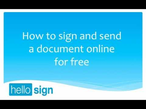 HelloSign: Sign and send a document for free (Paperless Method)