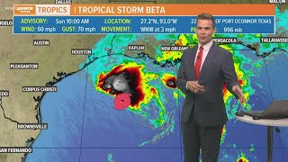 Download lagu Sunday 10 am Tropical Update: Beta struggles, Louisiana could see heavy rain