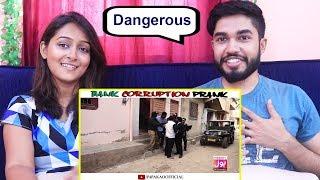 INDIANS react to Bank Corruption Prank | P4 Pakao | Nadir Ali & Team