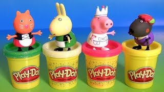 Play Doh Peppa Pig Storytime Pack Once Upon a Time SURPRISE - Fairy Tale Swan Peppa, Candy Cat