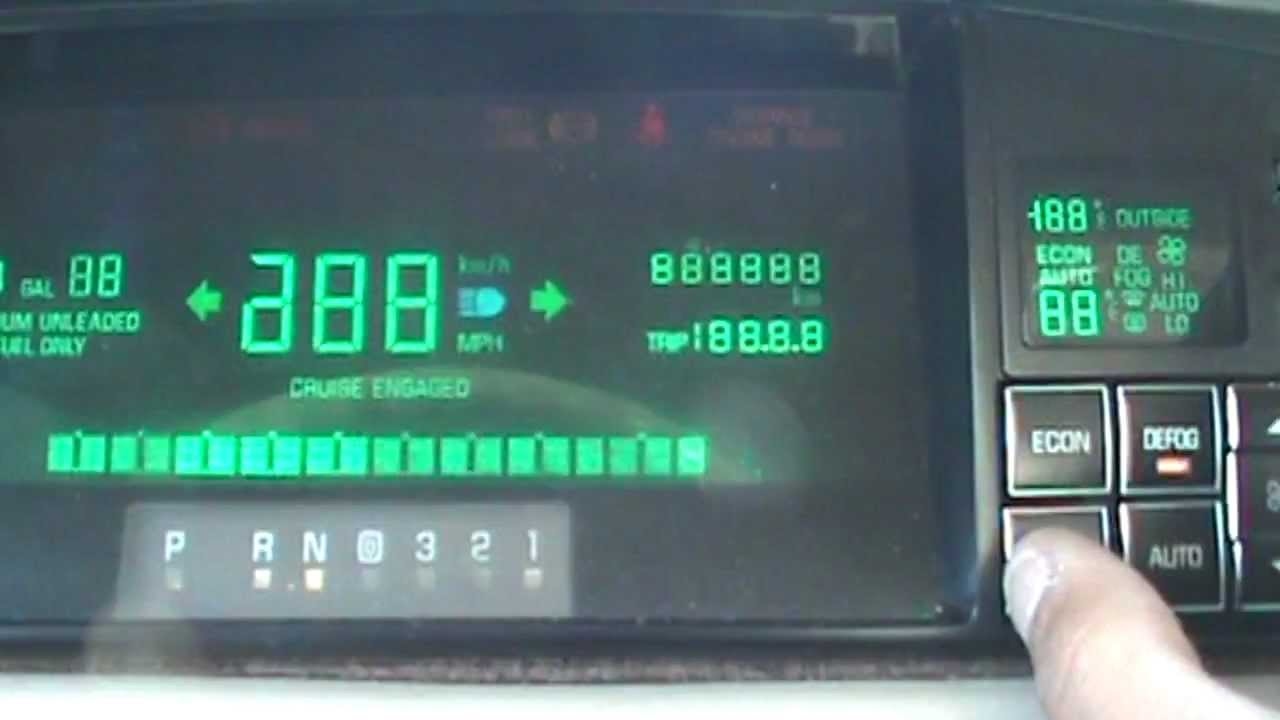 small resolution of cadillac deville gauge cluster reprogramming engine rpm coolant temp battery voltage youtube