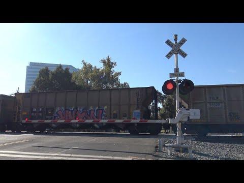 UP 7131 Empty Coal Train West, 3rd St. Railroad Crossing, West Sacramento CA