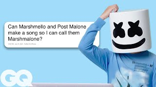 Marshmello Goes Undercover on Twitter, YouTube, and Reddit | GQ thumbnail